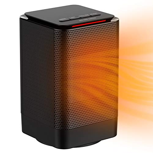 ALROCKET Oscillating Space Heater, Indoor Personal Heater, Electric Ceramic Heater with Over Heat Protection, Tip Over Protection, 3 Heat Settings, Quick Heat up for Home Office