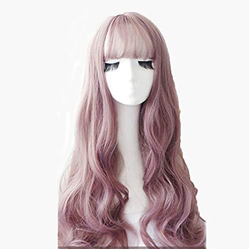 Parrucca ondulata lunga con parrucca sintetica resistente al calore seta per le donne sottile parrucca di ricambio nebbiosa rattan per il partito cosplay