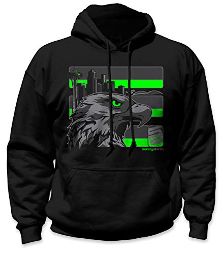 SafetyShirtz Stealth Seattle Hoodie Black w/ Reflective XL