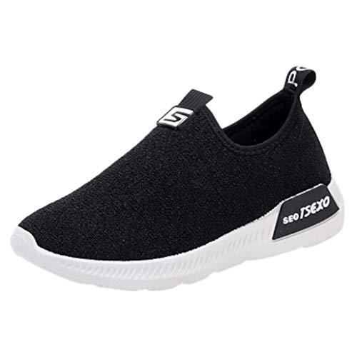 Leichte Sneaker Damen,Frauen Damen beiläufige Müßiggänger Turnschuh Stretchstoffe Atmungsaktiv Schuhe rutschfeste Joggingschuhe