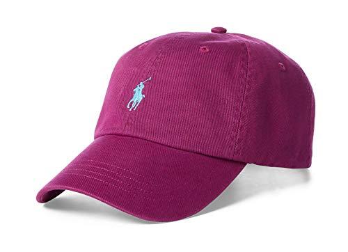 Polo Ralph Lauren Men`s Cotton Chino Baseball Cap (Royal Magenta(3022)/Blue, One Size)