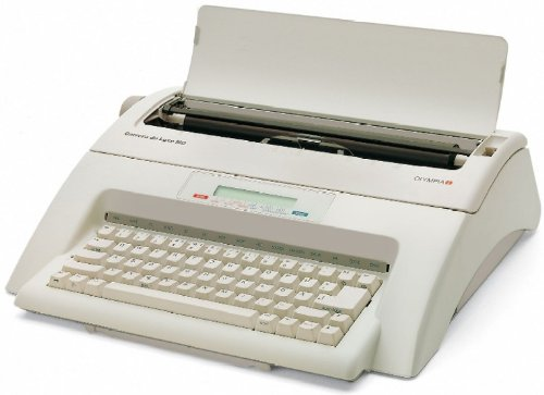 Olympia 252661001 Schreibmaschine, Carrera de luxe MD, Schreibleistung 11 Zeichen/Sekunde