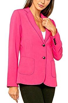 Love Token Womens Vito 2 Button Blazer in Hot Pink M - LT100-45-HPNK-M