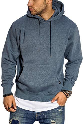 JACK & JONES Herren Hoodie Kapuzenpullover Sweatshirt Casual Streetwear (L, China Blue)