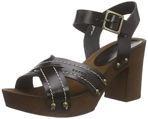 ESPRIT Damen Cheri Sandal Clogs, Schwarz (001 Black), 42
