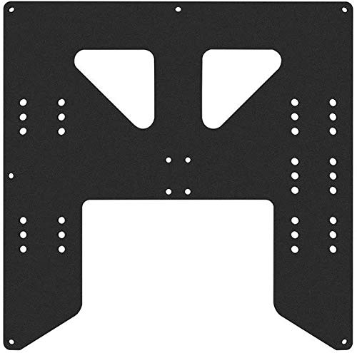 Printer Accessories Black Upgrade Y Carriage Anodized Aluminum Plate for A8 Hotbed Support Board for Prusa I3 Anet A8 A6 3D Printers DIY Parts 3D Printing Accessories