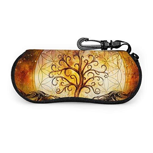 sherry-shop Sonnenbrillenetui Paar Ravens Sonnenbrillen Softcase Ultraleichtes Neopren-Reißverschluss-Brillenetui mit Gürtelclip