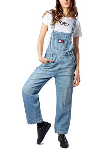 Tommy Jeans DW0DW07685 Dungaree Latzhose Damen Denim Light Blue 26