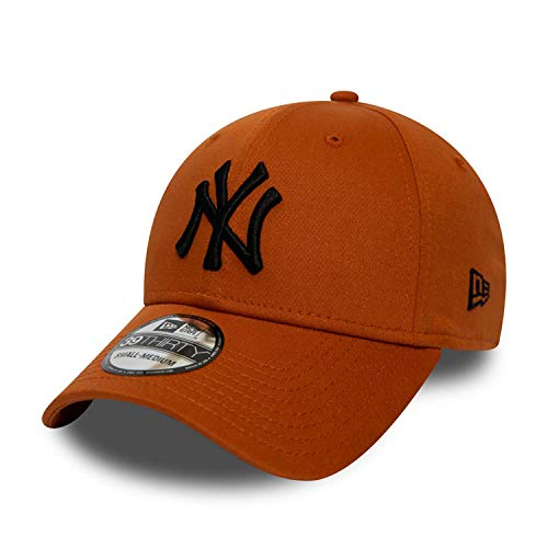 New Era Gorra 39thirty MLB York Yankees League Essential Marrón XS/S