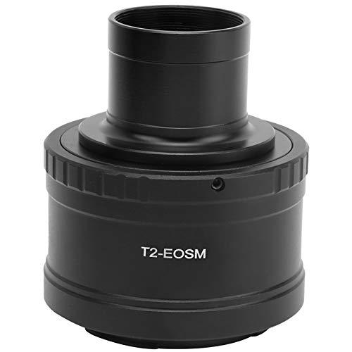 Anillo adaptador de telescopio, convertidor de telescopio astronómico de 1,25 pulgadas, anillo adaptador de aleación de aluminio T2-M, cámara para Canon M Mount Mirrorless, para fotografía astronómica