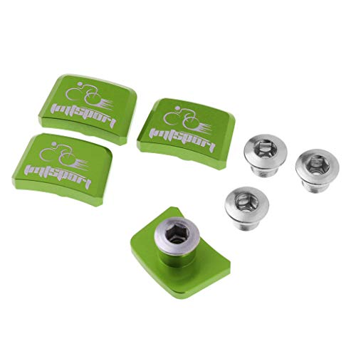 perfk 4 Stück Kettenblatt-Schraube aus Aluminium - Grün