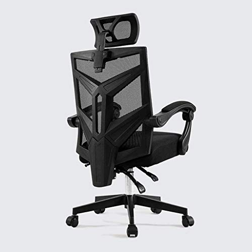 office chair Mch Chairs Computer Chair, Backrest Ergonomic Chair, Home Office Boss Chair, Reclining Office Lift Swivel Chair Gaming Seat (Size : White-Latex Cushion with Footrest)