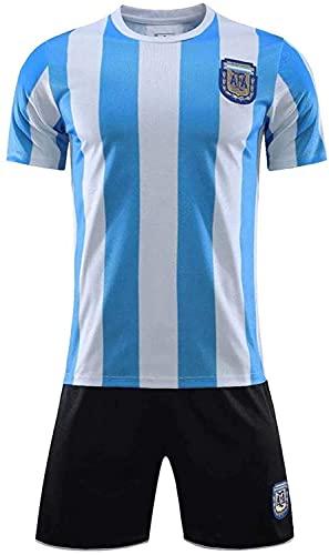 #10 Diego Maradona Argentinien Home Fußball Trikot Gedenk Fußball Trikot Set -1986 Argentinien Fußball Fußball Gedenk T-Shirt + Shorts