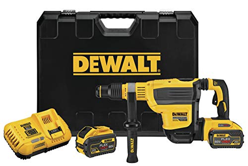 DEWALT FLEXVOLT 60V MAX Rotary Hammer Drill, SDS Max, Brushless Combination Kit, 1-3/4-Inch (DCH614X2)