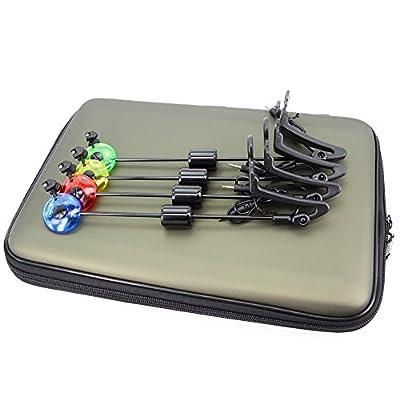 Hirisi Tackle® Carp Fishing Swingers Set for Carp Fishing 4pcs In Zipped Case by Hirisi