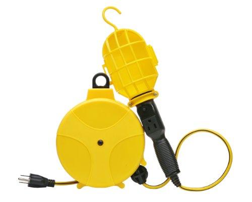 Designers Edge E216 Plastic Cord Reel with Handheld Work Lights