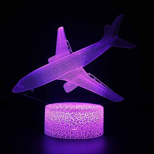 Nivel de control remoto de luz nocturna 3D Lámpara 3D Lámpara de mesa Ilusión Luz nocturna 7 tipos de luz ambiental que cambia de color Aaa Luz USB con pilas