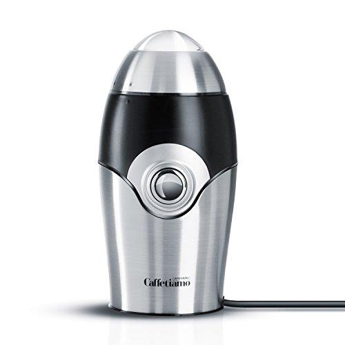 Arendo Schlagmesser Universalmühle - Caffetiamo Universal-Kaffeemühle, Küchenmaschine - robustes Edelstahl-Schlagmesser - 50g Füllmenge - 150W - integrierte Sicherheitsschaltung - Edelstahldesign