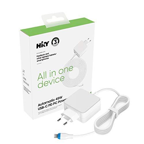 HKY Type C USB C de 45 W Cargador Cargador Cargador Alimentador...