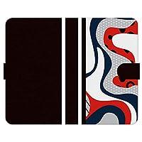 Ruuu OPPO Reno5 A 手帳型 スマートフォン スマホ ケース カバー トリコロール アート サイケデリック サイケ 柄 模様 トリコロールカラー おとな 可愛い 大人かわいい おしゃれ きれい 個性的 目立つ ダイアリー 携帯カバー ブラック 黒 バイカラー