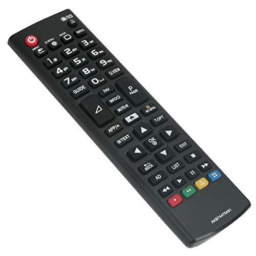 AKB74475481 Ersatz Fernbedienung - VINABTY Fernbedienung für LG HD LCD TV AKB74475472 43LF590V 32LF592U 55UH600V 65UF680V 65UH600V 55UB830V 55UB820V 50LB580V 43LH560V 43UF680V 49UH600V 55LB580V