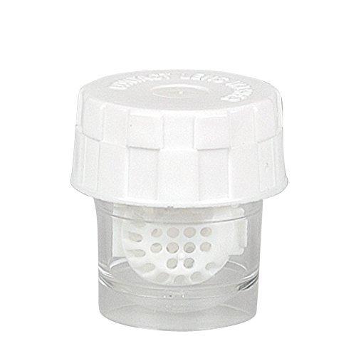 Kontaktlinsenbehälter mit Körbchen - Waschmaschine für Kontaktlinsen - weiß