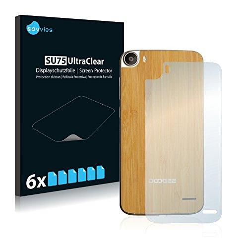 Savvies 6X Schutzfolie kompatibel mit Doogee F3 Pro (Rückseite) Bildschirmschutz-Folie Ultra-transparent