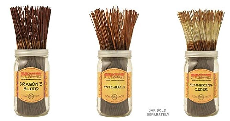 オーケストラ啓示実業家Wildberry Incense Sticks Best Sellerのセット3?Scents?–?Dragon 's Blood、パチュリSimmeringサイダー(各、100のパック合計300?Sticks)