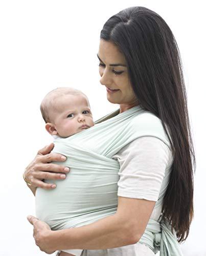 Ergobaby Baby-Tragetuch für Neugeborene bis 11 kg, Elastisches Babytragetuch Sage Atmungsaktiv aus 100% Viskose, Sling für Tragetuch Neulinge - 3