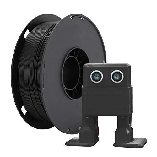 Xpork PLA+ Filament 1.75mm PLA Plus 3D Printer Filament Dimensional Accuracy +/- 0.03mm 1KG (2.2 LBS) Spool 3D Printing Filament for 3D Printers Black