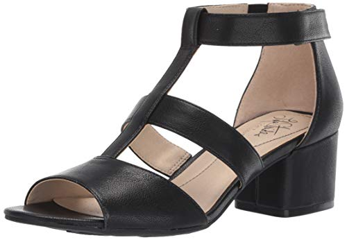 LifeStride Women's Riley Heeled Sandal, Black, 8 M US