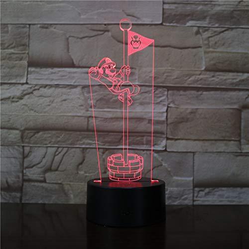 3D Springende Flagge Der Zeichentrickfilm-Figur Nachtlicht Led Optische Täuschung Lampe, 7 Farben Ändern, Die Touch-Schreibtischlampe Für Kinder Geburtstag Weihnachtsgeschenke