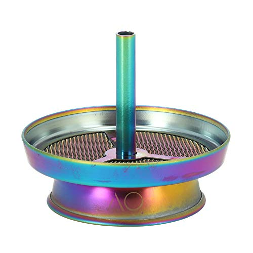 AO® Strainer Kaminaufsatz - Shisha Zubehör Für Perfekte Kohletemperatur - Aus Rostfreiem Edelstahl - Simpler Aufbau & Einfache Reinigung - Rainbow