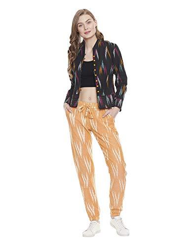 Indigo Paisley Damen Allegra Joggerhose 100% Baumwolle Boho Style Jogger Loungehose mit elastischem Bund mit 2 Seitentaschen