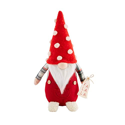 Mud Pie Christmas Gnome Sitter (Small), Red, 42600578S