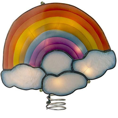 Kurt Adler 10' Lighted White Rainbow Christmas Tree Topper - Clear Lights