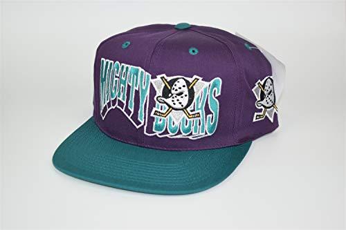 GCC Anaheim Mighty Ducks NHL 90's Vintage Adjustable Snapback Cap Hat - NWT Purple/Teal