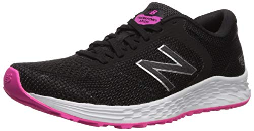 New Balance Women's Arishi V2 Fresh Foam Running Shoe, Black/Peony, 7.5 B US