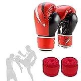 pzcvo Vendas Boxeo Vendas Boxeo Hombre Boxeo envolturas de muñeca El Secreto de Las Mujeres Boxeo Kit Boxeo Cosas Guantes y Almohadillas de Boxeo Set-2,Freesize