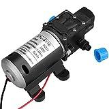 Bomba de agua, 8L / Min 160Psi Bomba de agua autocebante de diafragma de alta presión for lavado 12V DC 100W