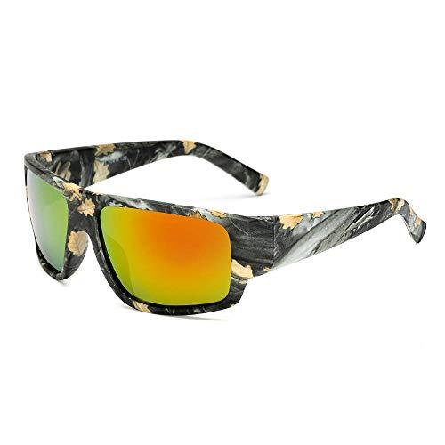 FJCY Gafas de Sol polarizadas Gafas de Sol paraHombre Gafas de Sol Retro de Camuflaje Deportivo Hombres Mujeres-6-Kp1028-C2