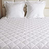 Mattress Protector Double Quilted Cover Extra Deep Fabric Skirt Hypoallergenic Filling All Uk Bed Si...