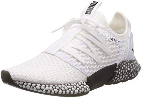 Puma Herren HYBRID Rocket Netfit Laufschuhe, Weiß White Black 02, 47 EU