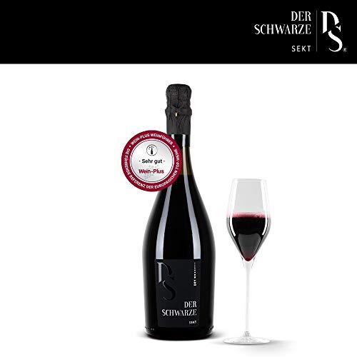 Der Schwarze Sekt, trocken, Sektflasche 0,75l, Qualitätsschaumwein aus Italien, natürlich schwarz