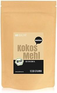 Wohltuer Bio Kokosmehl |Bio Kokos Mehl | Glutenfrei, nährstoffreich & vegan | vielseitiges Lebensmittel in geprüfter Bio-Qualität 1000g