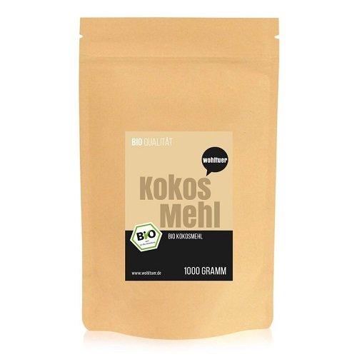 Wohltuer Bio Kokosmehl |Bio Kokos Mehl | Glutenfrei, nährstoffreich & vegan | vielseitiges Lebensmittel in geprüfter Bio-Qualität (1000g)