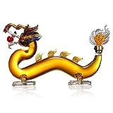 Fndjfjf Whiskey Decanter Chinese Dragon Shape, High Borosilicate Glass, Hand Blown Animal Shape Glass Decanter for Whiskey, Wine Scotch Liquor Decanter - 1000Ml