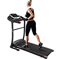 【Real Space Saver】Super fast and easy assembly. This Merax folding treadmill boasts a compact footprint and fast folding design with convenient transportation wheels to move around without hassle. You can either store it in your living room, study, a...