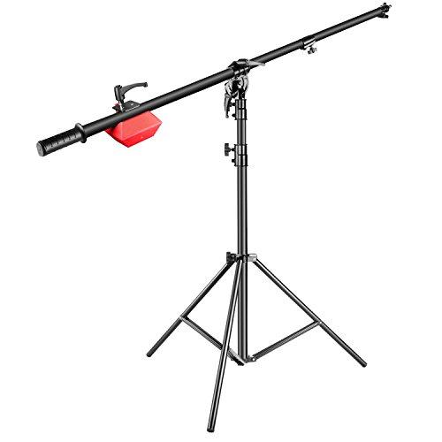 Neewer Pro Lampe Galgenstativ Boom Ständer, Maximale Höhe 180 Zentimeter mit 224-Zentimeter Haltearm, 4 Kilogramm Gegengewicht für Monolicht Blitzlicht Ringlicht Softboxen usw.