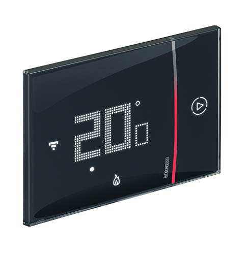 Bticino Termostato WiFi intelligente Smarther2 with Netatmo SXG8002, Incasso, Nero